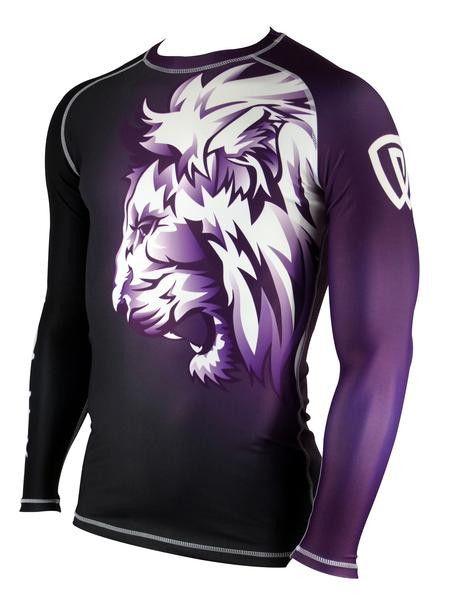 Phalanx Lionheart Purple Belt Ranked BJJ rash guard for Gi and No Gi Jiu Jitsu Athletes