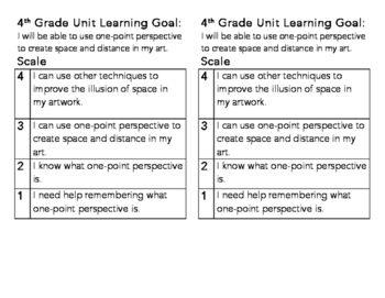 4th Grade One Point Perspective Learning Goal... by Michelle Kurasz | Teachers Pay Teachers