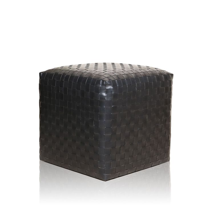 Amare Leather Pouffee - Let your snowy splattered hallway walls fall in love with this striking all black Amare leather pouffe. #INVHome #LuxuryHomeDecor #InteriorDesign #RoomDecor #Decorations #Decor #INVHomeLinen #Tableware #Spa #Gifts #Furniture #LuxuryHomes #Furniture #Stools