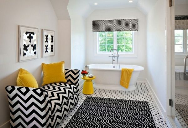 Badezimmer Ideen in Schwarz-Weiß – 45 inspirierende Beispiele -