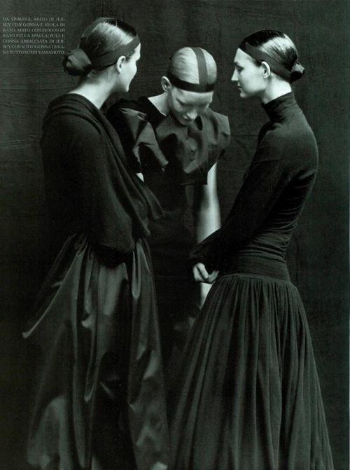 Yohji Yamamoto S/S 98 by Peter Lindbergh