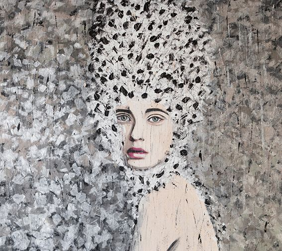 ANAIS / 140 x 140 cm / acrylic on canvas / 2014 by Lilja Bloom