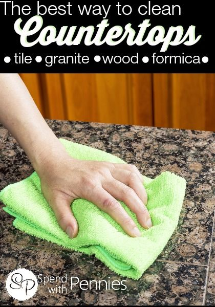 the best way to clean your countertops countertops