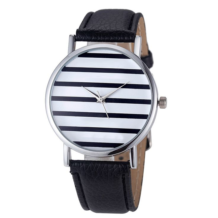 9s cheap Women's Striped Anchor Analog Leather Quartz Wrist Watch Watches #2102 Brand New High Quality watch