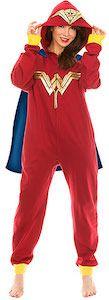 Wonder Woman Onesie Pajama With Cape And Hood - http://www.thlog.com/wonder-woman-onesie-pajama-cape-hood/