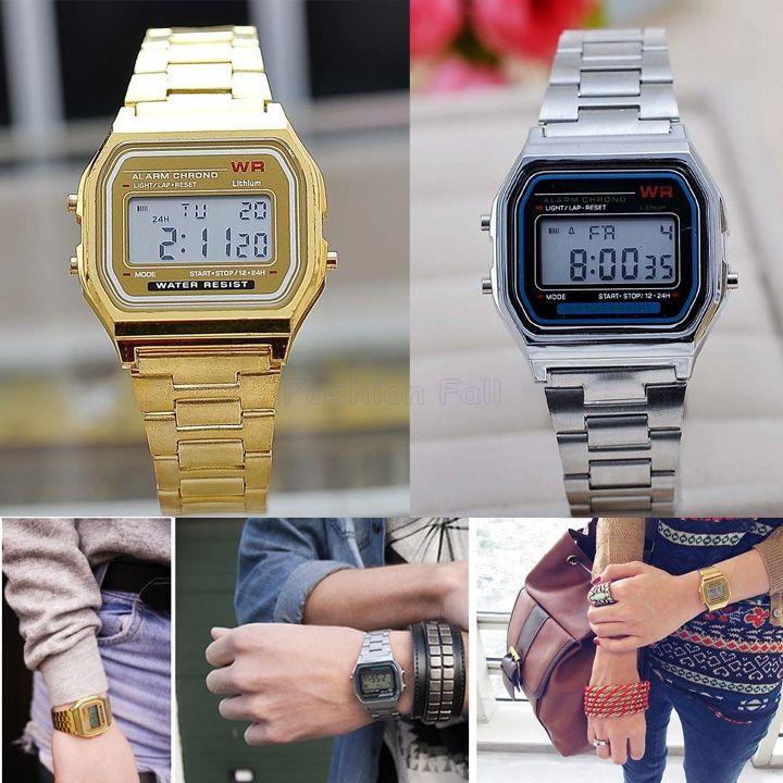 6333785fe16 Find More Relógios de Pulso Fashion - Feminino Information about ouro   casal silver homens relógio relógios de pulso relógio digital com …