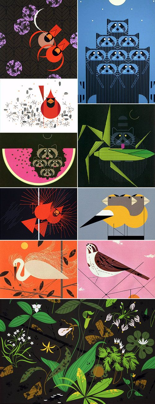 Flaming Stitches: Why wait  Charley Harper designs translated into quilting!