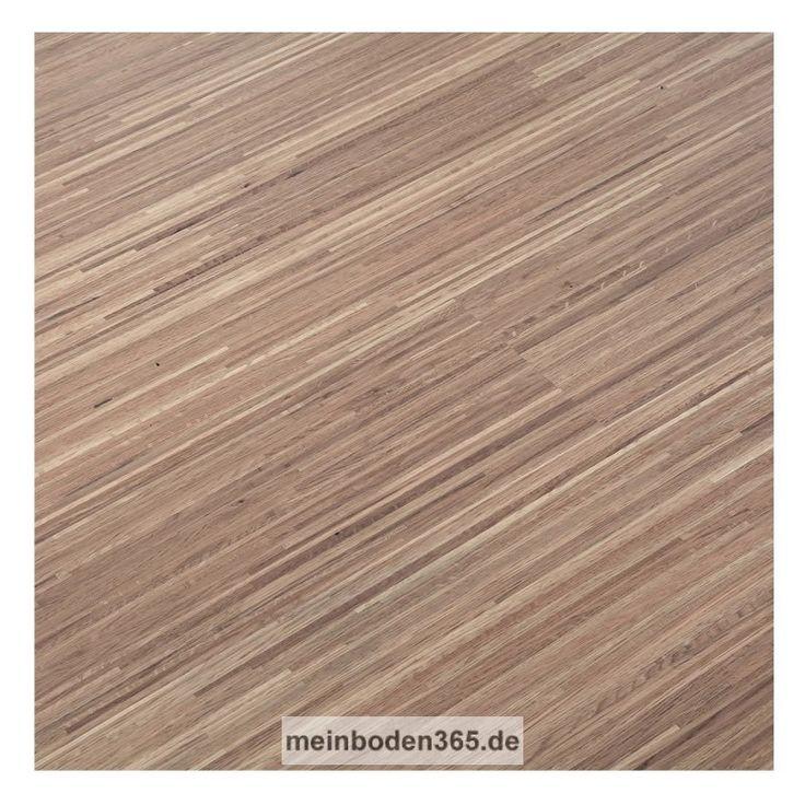 Eiche weiss Fineline Das Parkett ist ein 3-Schicht Fertigparkett mit einer sehr modernen Fine Line Optik in der Holzart Eiche Natur. Die Oberfläche ist weiß matt lackiert. Die Designdiele verfügt über eine Nutzschicht von 3,4 mm. Durch das Klicksystem kann dieser Boden sowohl schwimmend auf einer Trittschalldämmung, als auch vollflächig verklebt verlegt werden. Die Dielen sind für die Verlegung auf einer Fußbodenheizung geeignet.