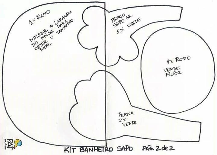 Kit Banheiro Molde : Melhores imagens sobre sapo no brinquedos