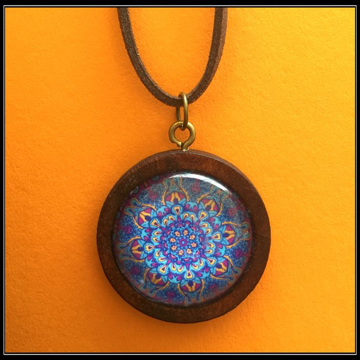 Handmade mandala pendant jewellery necklace