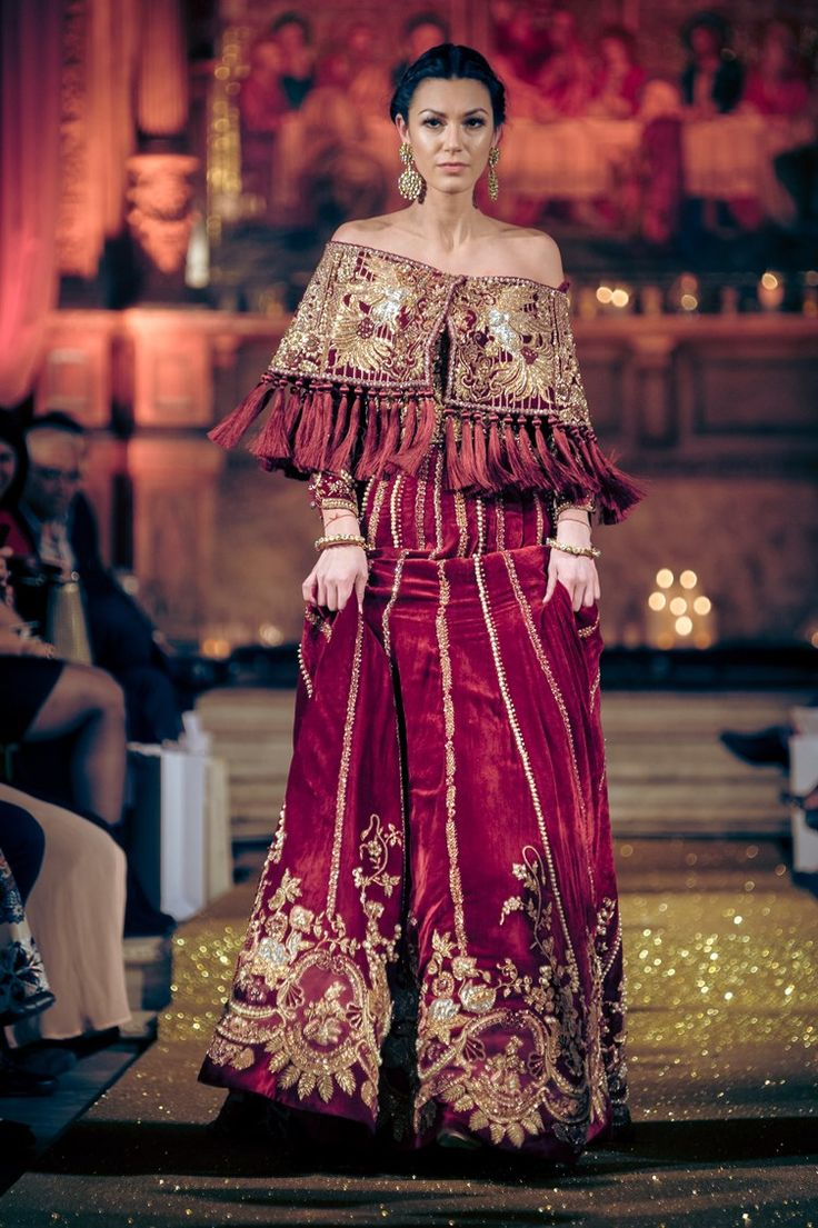 ruffled, off the shoulder red dress Tena Durrani Pakistani Bridal Outfits   Pakistani wedding fashion inspiration