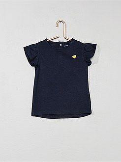 19b90fe35 Niña 0-36 meses - Camiseta con corazón brillante - Kiabi