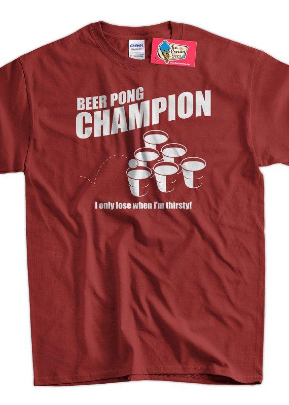 Beer Pong Champion Screen Printed TShirt Mens by IceCreamTees, $14.99
