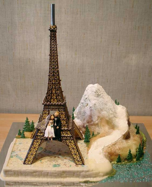 Parisian Wedding Cake