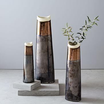 Mixed Metallic Vases #westelm
