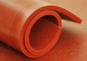 Silicone Solid Sheet Red Oxide 60° Shore - 1.2m Wide Translucent  General Purpose Silicone Sheet (-40°C to +200°C, 230°C intermittently)
