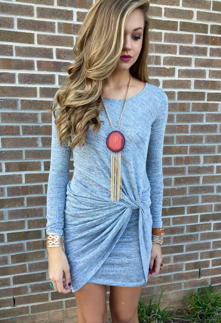 Attention stitch fix stylist! I would love a dress with a side knot like this one #swoonboutique