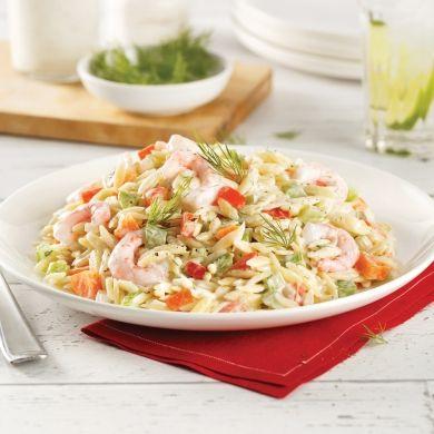 Salade d'orzo aux crevettes - Recettes - Cuisine et nutrition - Pratico Pratique