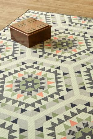 New Aztec Pink: 1.5 X 2.3 metres. Printed Polyester. Please note that, as these printed rugs are...