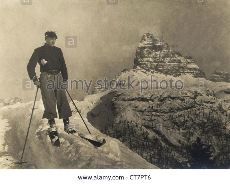 lonely-vintage-skier-with-mountain-winter-landscape-italy-1938-CT7PT6.jpg (1300×1046)