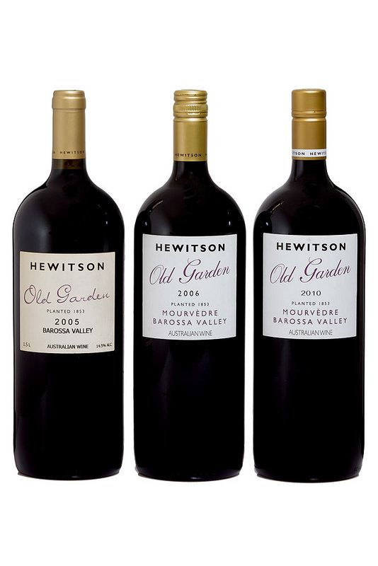 Barossa Wine Chapters Auction 2015: Live Auction Lots  Lot 14L  Hewitson  Old Garden Mourvèdre three bottle magnum set. One bottle each of the following vintages: 2005, 2006, 2010. 1.5L Magnum