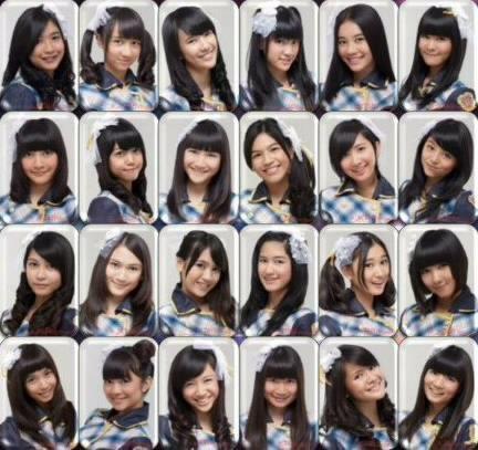 JKT48 members, using Ponychou Seifuku