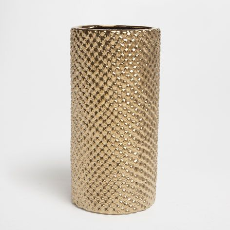CYLINDRICAL GOLDEN VASE - Vases - Decor and pillows | Zara Home United States of America