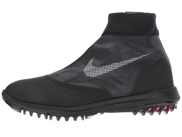 Nike Golf Lunar Vaporstorm Men's Golf Shoes Black/Reflect Silver/Solar Red