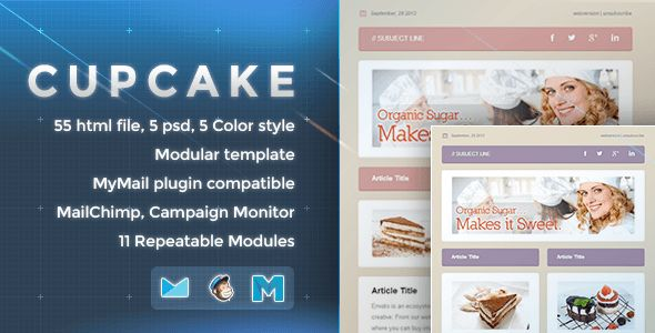 Cupcake - Responsive Email Template  #themeforest