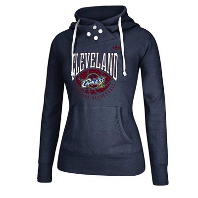 Cleveland Cavaliers adidas Women's Ballin Pullover Hoodie – Navy Blue