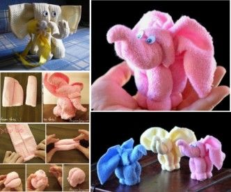 DIY  Washcloths Elephant