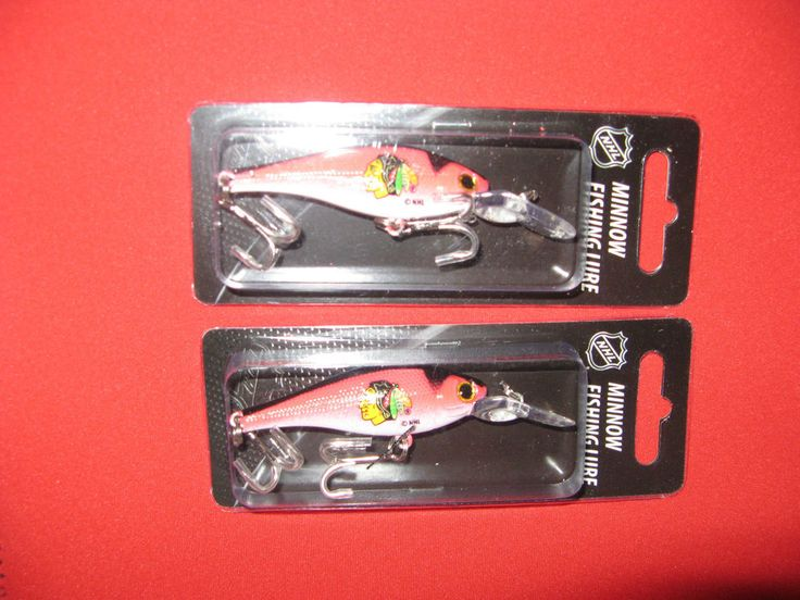 TWO CHICAGO BLACKHAWKS, OFFICALLY LICENSED MINNOW FISHING LURES FROM TOPPERSCOT #Topperscot #ChicagoBlackhawks