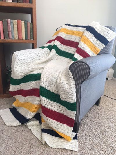Crochet - Afghan & Throw Patterns - Assorted Patterns - Four Points Blanket