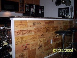 wooden wine crate panel bar wall wine pinterest wooden wine crates wine crates and crates. Black Bedroom Furniture Sets. Home Design Ideas