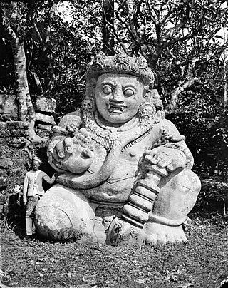 The largest dwarapala stone statue - a guardian of holy places - in Java, Indonesia. COLLECTIE TROPENMUSEUM Beeld van een demonische tempelwachter Singosari Oost-Java TMnr 10016489 - Dvarapala - Wikipedia, the free encyclopedia