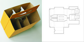 Beer Packaging 6 Pack Carrier Design Template
