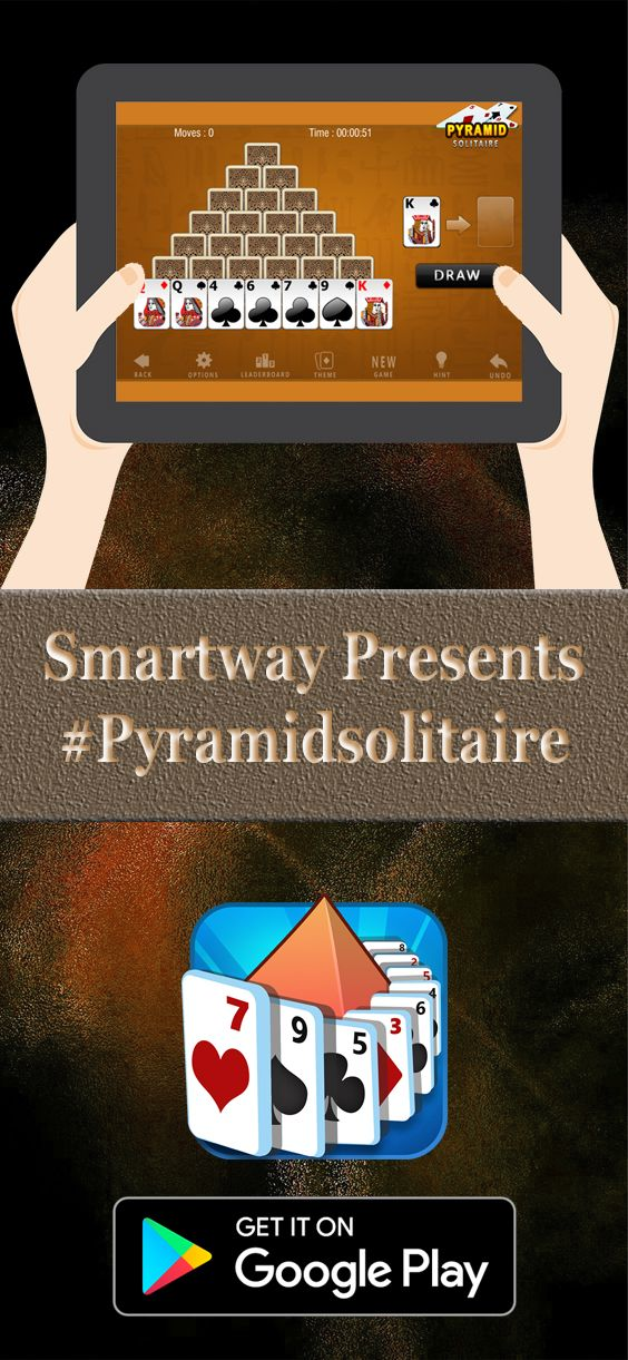 """Smartway Games presenting """" Pyramid Solitaire """" A new and"""