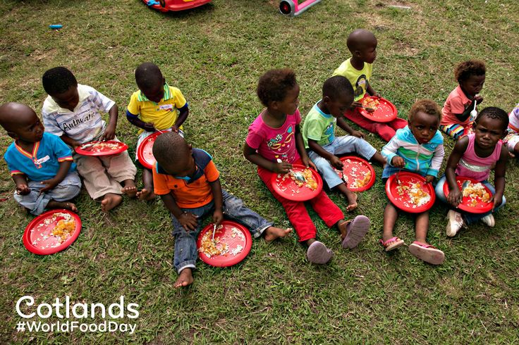 We recognise #WorldFoodDay today (16 October). So many of children in South Africa are malnourished. The Cotlands Early Learning Playgroups provide 1 snack and a nutritious meal for the children we serve, for many, this is the only food they'll eat for the day.