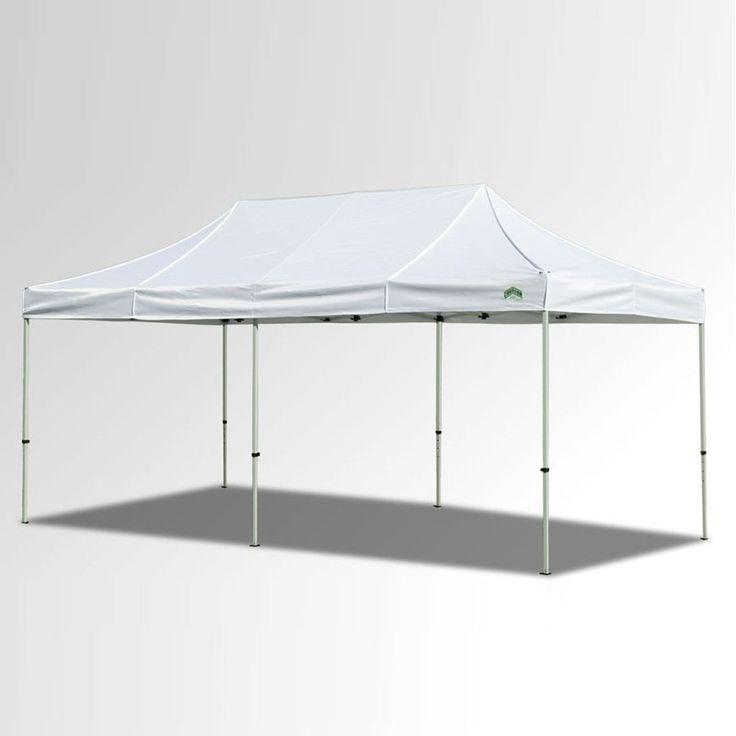 Caravan Sports 10x20 ft. Classic 500 Denier Heavy Duty Commercial Canopy White - 22003206012