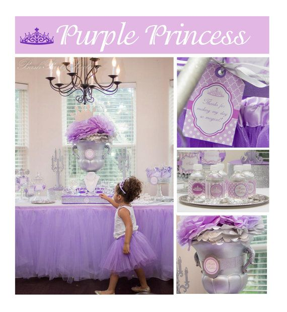 Sofia the first birthday inspired purple princess birthday for Sofia the first crown template