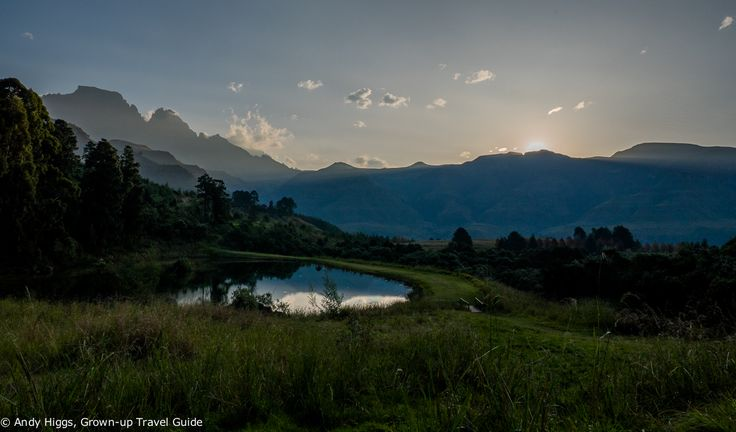 Sunset over the Central Drakensburg mountains at the Champagne Castle Hotel, South Africa. I cannot recommend this place highly enough - what a fantastic base for walking in the Central Drakensburg mountains, or just enjoying the peace, tranquility and great food..
