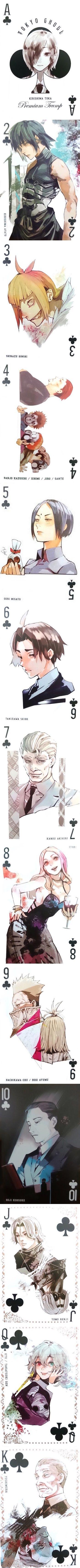 Tokyo Ghoul    Ishida Sui    Trump Cards    Clubs Suit