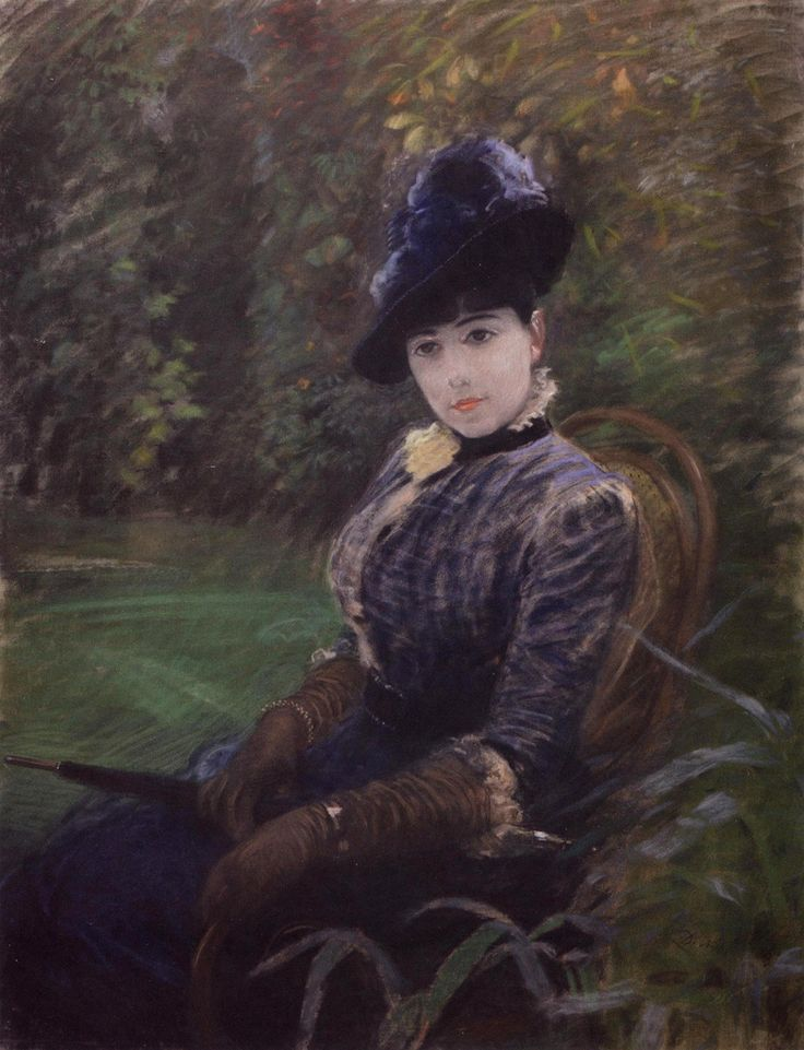 Giuseppe De Nittis (1846-1884) - Signora in giardino