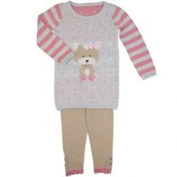 Cute set with long sleeve knitted top and matching spotty leggings.  Sizes 000, 00, 0, 1 & 2.