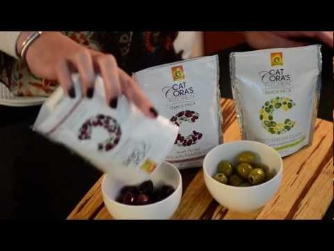 Delicious Video with Cat Cora's Kitchen Organic Olive Oil and Olives