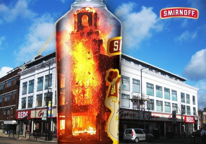 The London Riots 2012 as sponsored by Smirnoff. Brilliant advert – give it a vote for the @chipshopawards: http://ow.ly/b6bpD