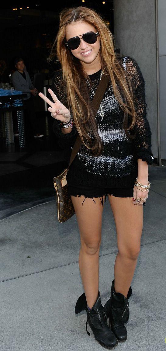 Miley Cyrus #rock #look