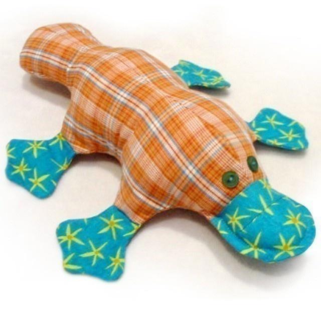 PLATYPUS Stuffed Toy Pattern PDF. $12,00, via Etsy.
