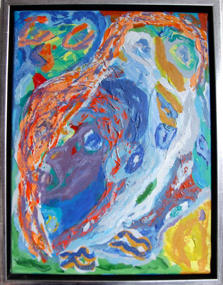 Sviluppo raccapricciante – Gruopvækkende udvikling? 40 x 30 cm, acrylic on canvas.
