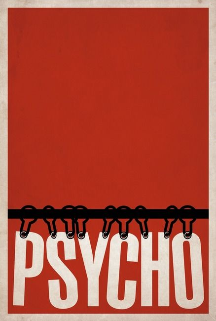 """Psycho"" by Matt Owen, Little Rock // Minimalist Film Poster for the movie 'Psycho' // Imagekind.com -- Buy stunning, museum-quality fine art prints, framed prints, and canvas prints directly from independent working artists and photographers."